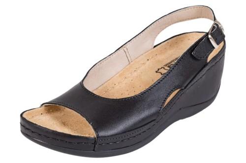 b4366c57b67b6 Obuwie zdrowotne sandały Buxa ANATOMIC BZ330 czarny - Sklep Buxa