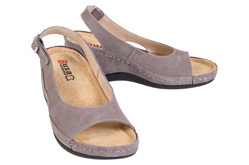 aa4b44150a55e Obuwie zdrowotne sandały Buxa ANATOMIC BZ330 szary - Sklep Buxa